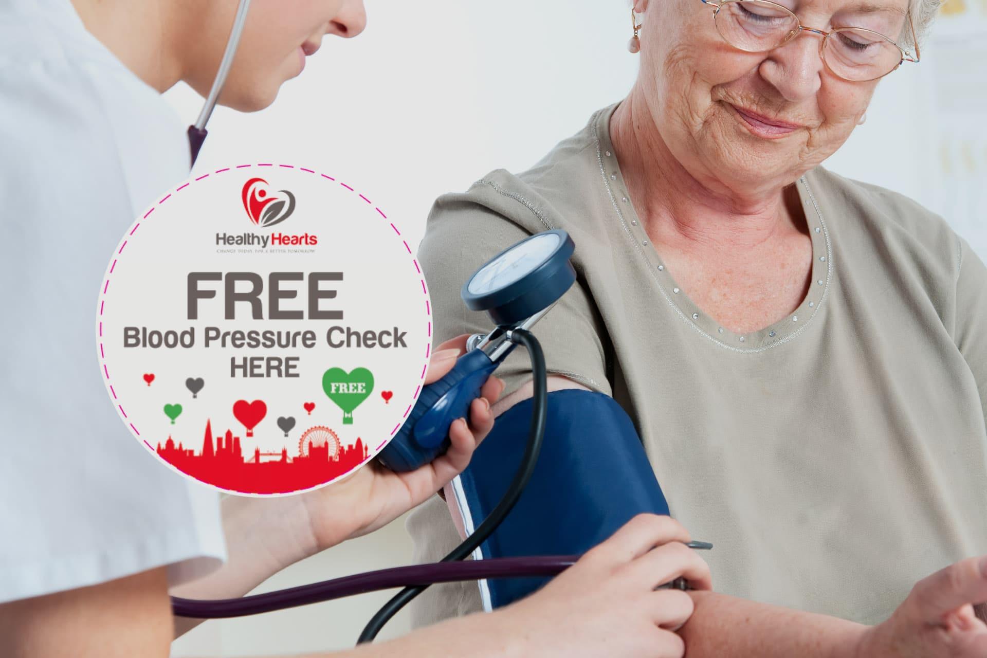 Free blood pressure test